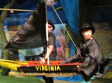 …их корабль «Вирджиния» под Веселым Роджером…